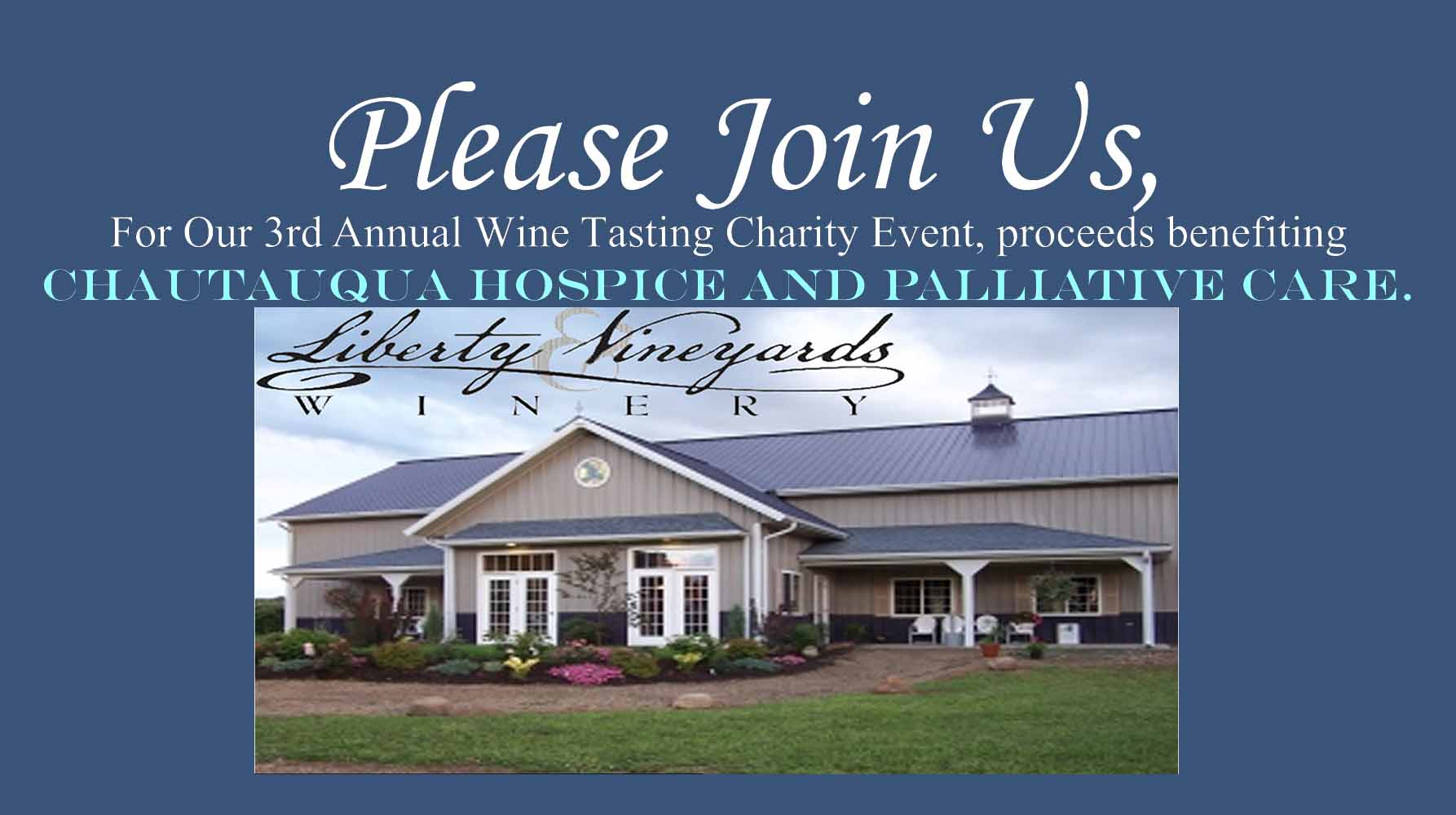 Please Join Us For Our 3rd Annual Charity Wine Tasting Event